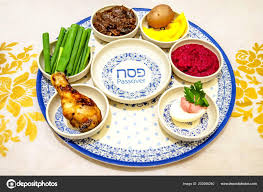 Holiday Name Traditional Pesach Jewish Passover Holiday Plate Holiday