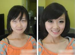 before and after photos of chinese s with and without make up