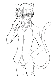 Anime Cat Girl Coloring Pages Anime Cat Girl Coloring Pages Anime