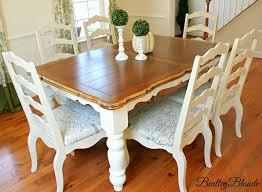 Bentleyblonde Diy Farmhouse Table Dining Set Makeover Chalk Paint