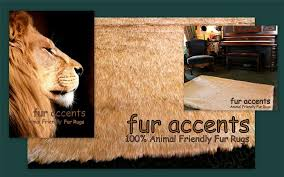 details about fur accents faux lion hide pelt rug deer skin area throw carpet tan 4 x 5