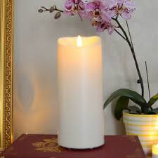 luminara outdoor flameless candle plastic finish unscented moving flame candle
