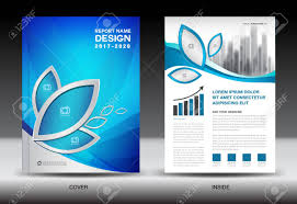 Advertisement Brochure Brochure Template Layout Blue Cover Design Annual Report Magazine 2