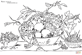 Fruits in a Bowl on a Red Tablecloth by Frans Snyders coloring page fruits in a bowl on a red tablecloth by frans snyders coloring on coloring tablecloth