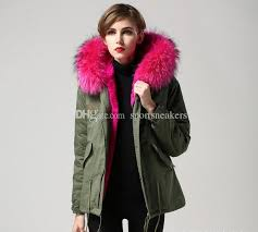herr fru furs winter coats women green military jackets short down parkas with real rac fur rabbit furs lining coat jacket with 328 13 piece