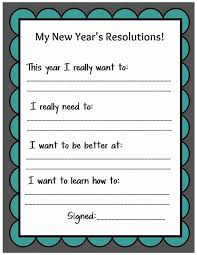 best new years in the classroom images new kid friendly new year s resolution printable
