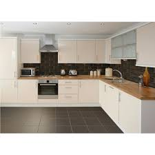 Tiled Kitchen White Kitchen Black Tiles Modern Kitchen Design Dark Grey Floor