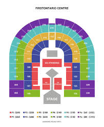 Seating Chart First Ontario Centre