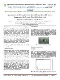 Spectroscopic Mechanical And Optical Properties Of L Serine