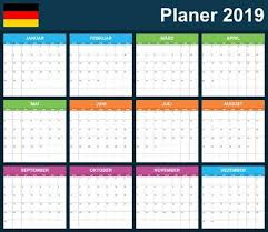 German Planner Blank For 2019 Scheduler Agenda Or Diary Template