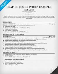 graphic design intern resume example student resumecompanioncom graphic design intern resume