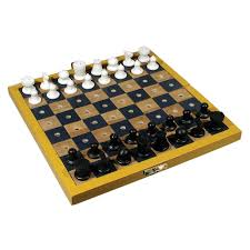 Wooden Box Board Games MaxiAids Travel Chess Set for the Blind or Those With Low Vision 85