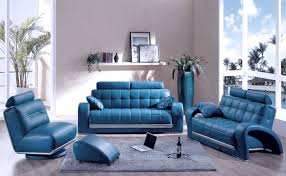 Living Room Designs With Leather Furniture Blue Leather Sofa Set Decor Pinterest Room Decorating Ideas