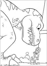 Grote Dinosaurus Tiny T Rex En Lewis Kleurplaat Gratis Kleurplaten