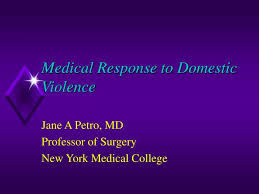 Ppt Medical Response To Domestic Violence Powerpoint