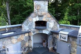 outdoor kitchen pizza oven design. outdoor pizza oven in westport, ct designed and installed by classic garden design llc - · kitchen with wood p