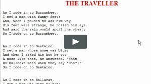 The Traveller by C.J. dennis read by Polly Barnett on Vimeo