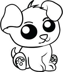 Inspiring Cute Baby Animal Coloring Pages Printable Kids Of Big Eyed