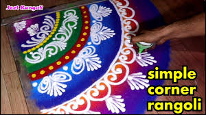 Diwali Rangoli Designs Sanskar Bharti Easy Corner Rangoli Design Sanskarbharti Rangoli Design For Corner Diwali Special Rangoli