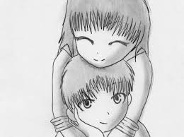 Pencil Sketches Of Couples Anime Couple Hugging In Pencil Drawing Ideas Holding Hands
