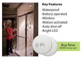 shower lighting. Wireless Light For Showers Installs In Minutes Without Wires Or An Electrician. Shower Lighting