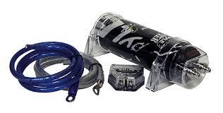 pyle 1 7 farad dig cap car capacitor install kit