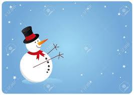 Holidays Snowman Blue Snowman Card For Xmas Season Happy Holidays Royalty Free