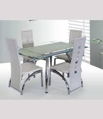 white glass furniture. Micha Modern 125cm Extendable White Glass Dining Table Furniture