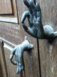 cool door knockers. Eclektic: Mudra Hand Door Pull- L Like The Idea Not Symbol Cool Knockers