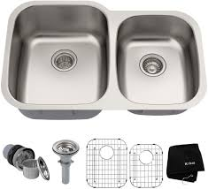Kraus Kbu24 32 Inch Undermount 6040 Double Bowl Stainless Steel