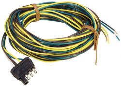 boat trailer wiring connectors com trailer conn 18 flat male wesbar