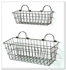 wall mounted wire basket black metal baskets the storage home design ideas office wall mounted wire basket