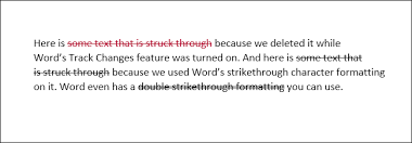 Word In Red How To Draw A Line Through Words In Microsoft Word