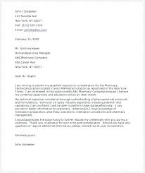 Cover Letter Sample For Pharmacy Technician – Resume Directory