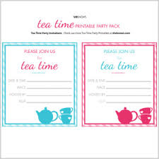 Tea Invitations Printable Mothers Day Tea Party Printable Pack Sheknows