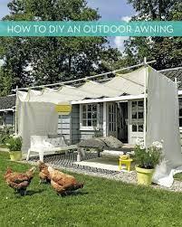 outdoor awnings diy patio backyard shade