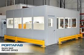 warehouse mezzanine modular office. Quick Ship Inplant Office - PortaFab Modular Building Warehouse Mezzanine