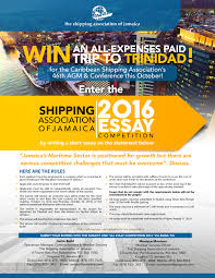 caribbean shipping association winner of shipping association of  saj essay competition 1