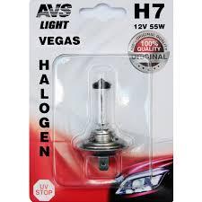 <b>Лампа</b> галогенная <b>AVS Vegas</b> в блистере <b>H7</b>.12V.55W (1 шт ...