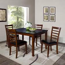 fashionable dining room furniture rectangle fabric rustic medium brown wood lacquered gray hickory folding tiny granite