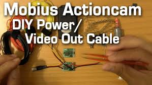 how to build a mobius actioncam power cable video out