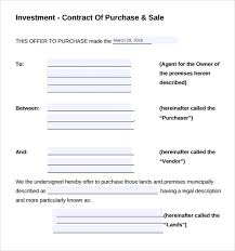 Investment Agreement Templates Investment Contract Template 8 Free Sample Example Formats