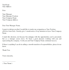 Sample Notice Letters Template Maternity Notice Letter Template Sample Resignation