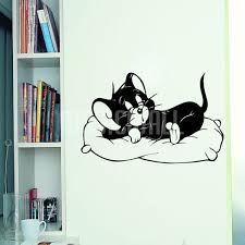 sleeping cat wall decals stickers