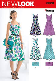 Belle Blue Dress Pattern Stunning Amazon New Look Sewing Pattern 48 Misses' Dresses Purse