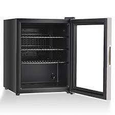 glass door mini bar freezer capacity