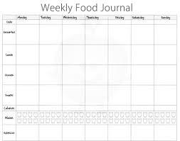 Weekly Food Diary Templates Rome Fontanacountryinn Com