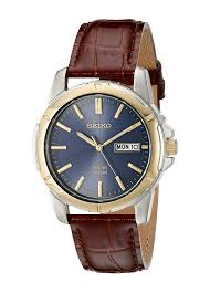 com seiko men s sne102 stainless steel solar watch with brown leather strap seiko watches