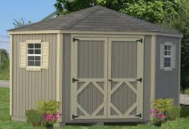 classic five corner storage shed diy kit 10 x 10