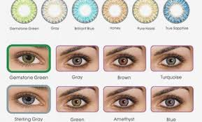 Freshlook Lenses Colors Chart Fresh Look Colored Contact Lenses Chart 2019